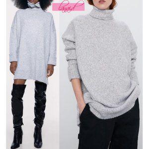 Zara Oversized Soft Feel Dress Turtleneck Sweater